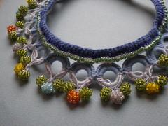 Brunnera Macrophylla Freeform Crochet Necklace
