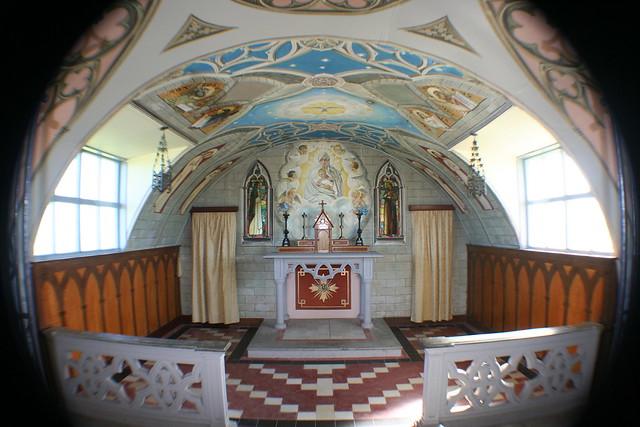 Inside Italian Chapel, Orkney, Scotland
