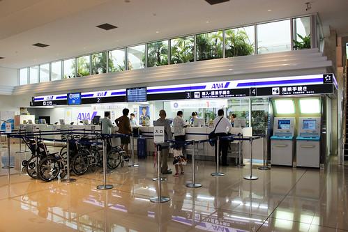 石垣空港のANAカウンター