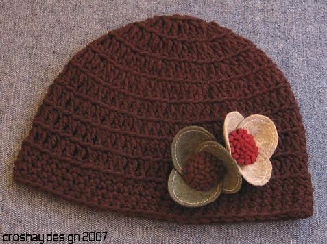 Crocheted Skull Cap Chocolate Brown Crocheted Skull Cap Wi Flickr