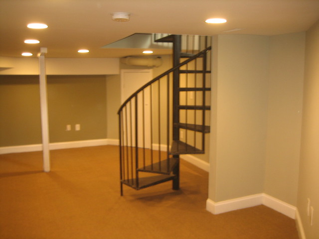 spiral stairs to finished basement flickr photo sharing