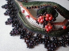 Vintage Freeform Crochet Necklace