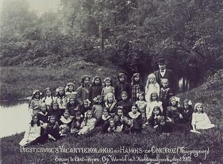 Openluchtschool van Diesterweg's Hulpkas, 1912   Open-air school from Diesterweg's Hulpkas, 1912