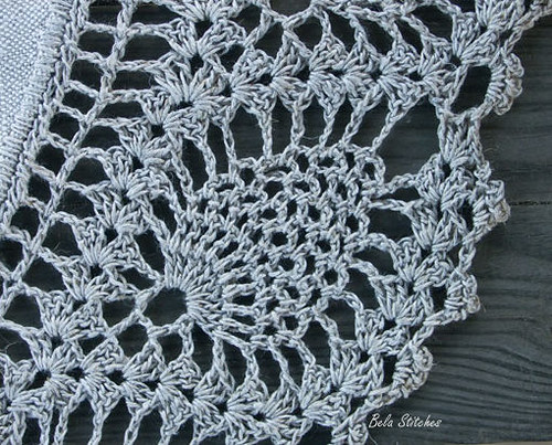 6 Lace Crochet snowflakes christmas decoration ornament by zolayka