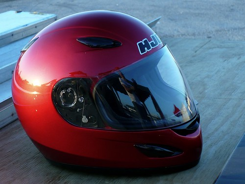 red reflection paul helmet trackday