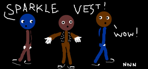 sparkle vests