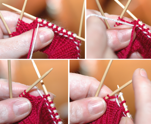 How to knit the braids, step 1