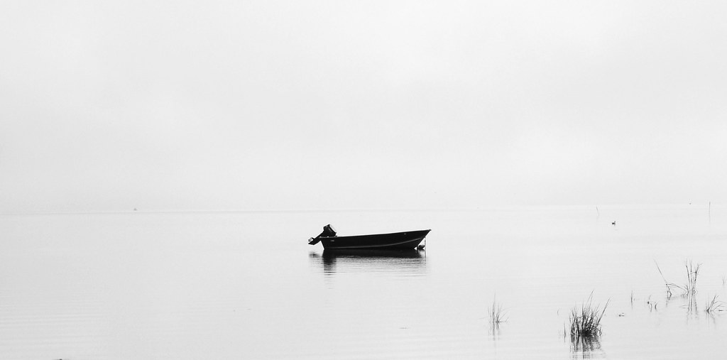 Fog and  Boat  Long Island New York