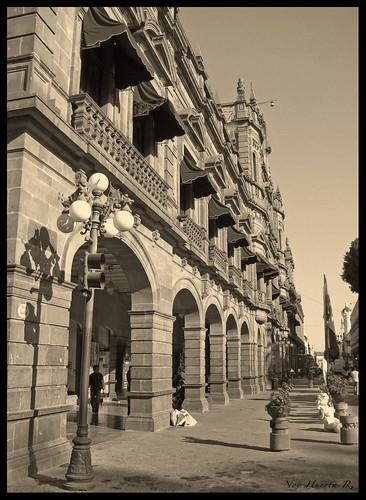 Palacio Municipal, Puebla (Sepia)
