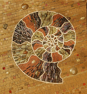 Ammonite mosaic