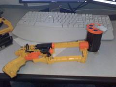 Nerf gun needed modding.  Remove air flow limiter.