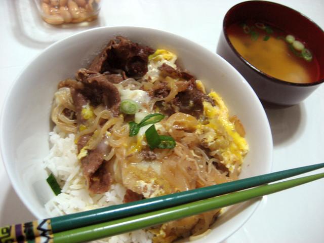 sukiyaki donburi | Flickr - Photo Sharing!