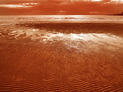 erg, horizon, sand, sea, aeolian landform, natural environment, wave, shore, desert, dune, landscape,