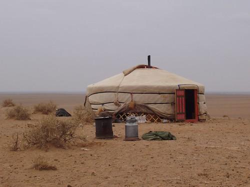 Ger en el Desierto del Gobi (Mongolia)