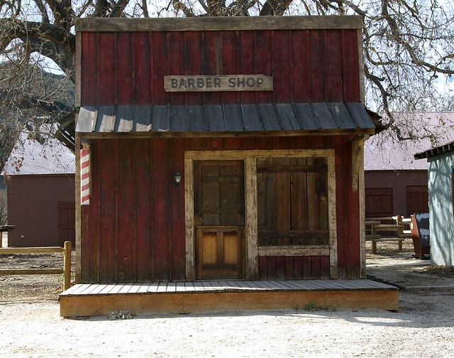 Barber Ranch : Barber Shop Old barber Shop at the Paramount Ranch. By: gourownway ...