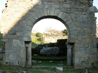 Arco Visigótico de Panxón görüntü. galicia arco pontevedra panxon visigotico