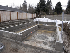 outdoor structure, reinforced concrete, wall, foundation, construction,