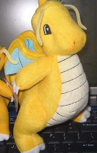Large Dragonite keychain mascot