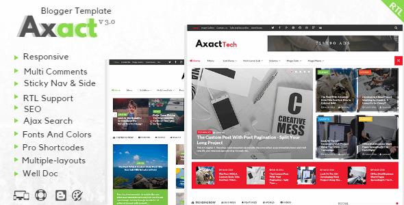 Axact v3.0 – Responsive Magazine Blogger Theme