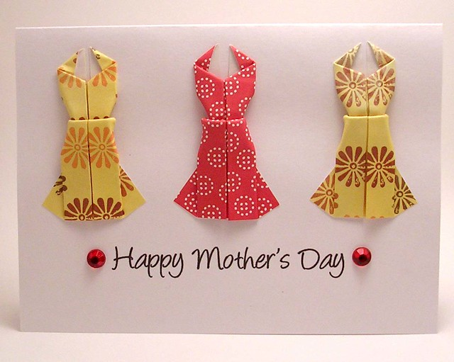 origami dress mothers day card flickr photo sharing