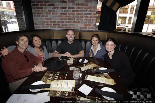 dinner with jack, darika, brian, donna & rachel
