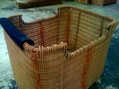 wicker, basket,