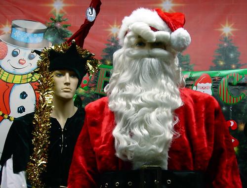 Santa and his helper