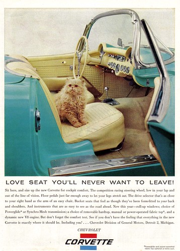 Vintage Ad #452: The Cat and the Corvette