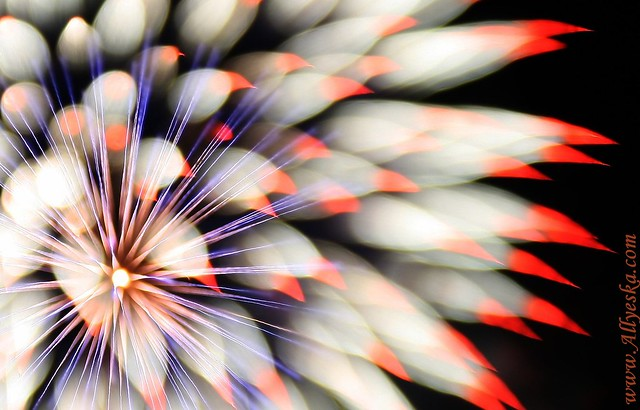 Aust Day fire works - focus blur yay!