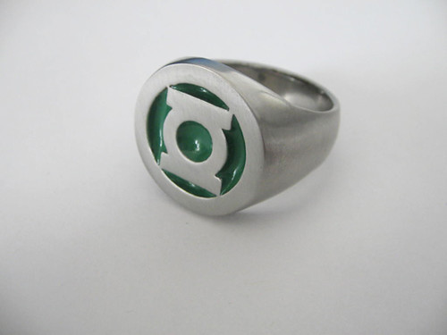 Stainless steel green lantern ring flickr photo sharing