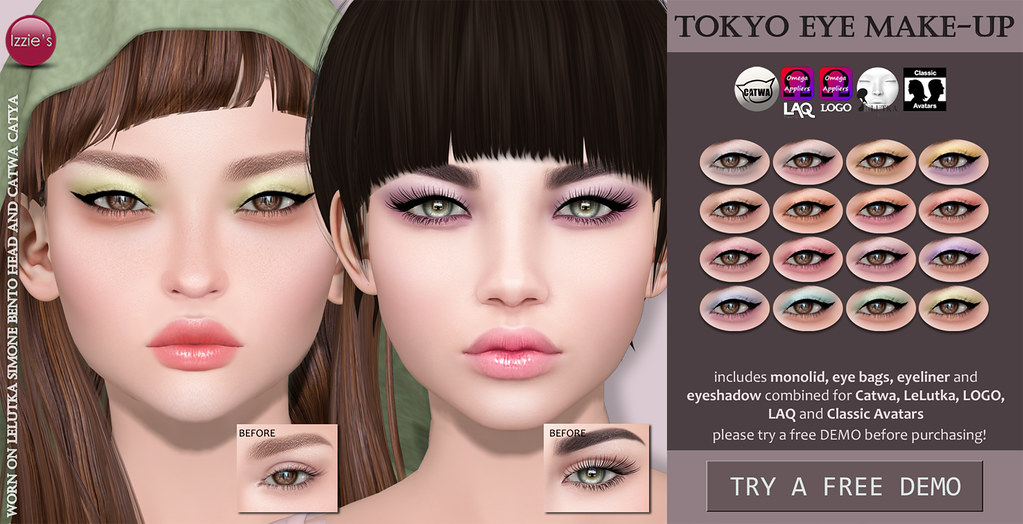 Tokyo Eye Make-Up (soon @ Uber) - SecondLifeHub.com