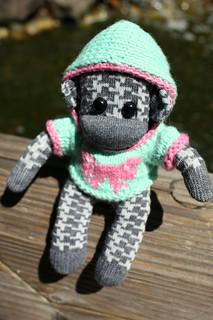 Baby Claudia sock monkey