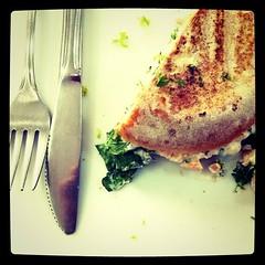 Smoked salmon sandwich @fresco #yum