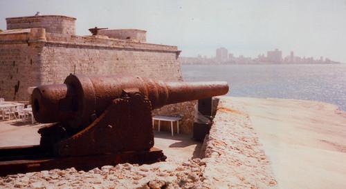 ego2005's photo of a canon protecting Havana's harbor.