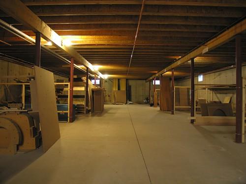 The basement storage bays