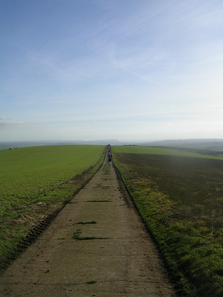 Along the top Lewes to Saltdean via Rodmell