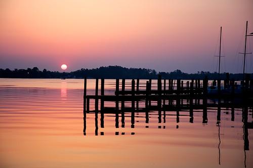 sunrise waterfront elizabethcity beamcatchers