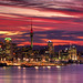 Auckland Harbour sunset by Kenny Muir