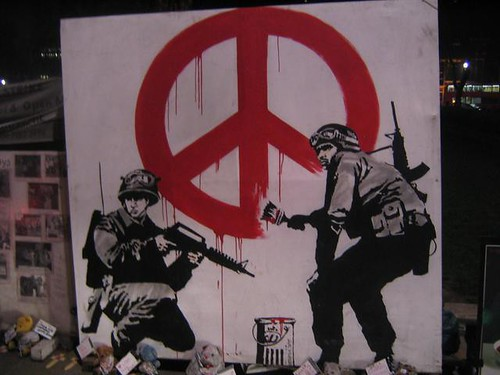 banksy - peace and machine guns