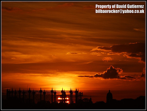 Sunset London  Dramatic  Red