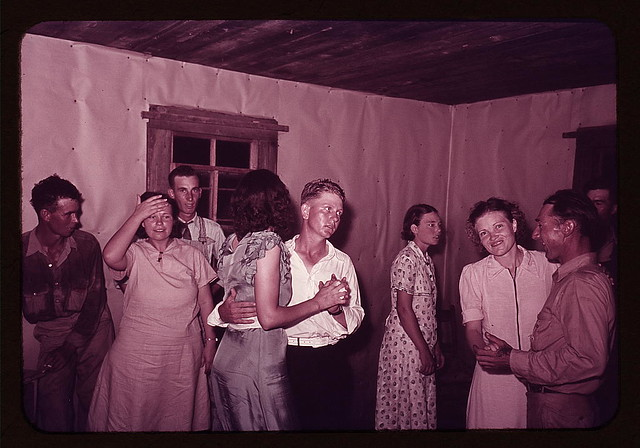 Scene at square dance in rural home in McIntosh County, Oklahoma (LOC)