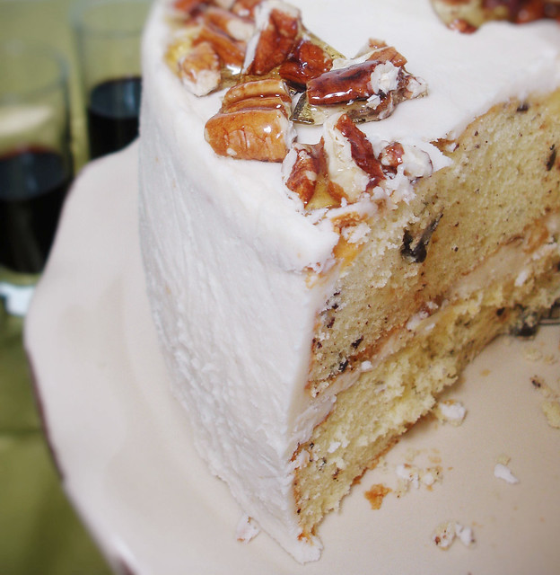 Sour Cream Layer Cake with Pecan Brittles | Explore 3liz4's ...