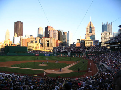 Pittsburgh Skyline over Right Field