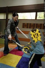 mother teaching her son to cope with real world chal…