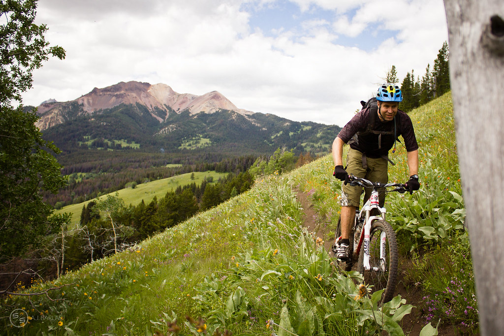 David Reid happy to be riding bikes in the Chilcotins