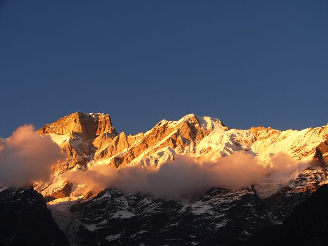 Sunset at Kedarnath mountains 1