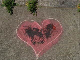 Broken Heart on the Sidewalk