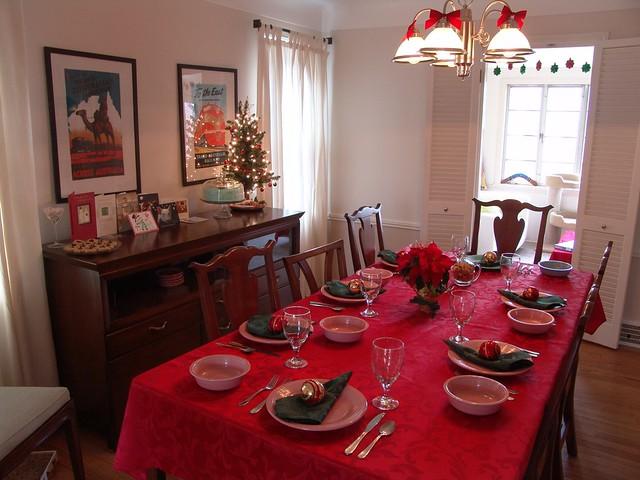 christmas dinner table setting 1228 flickr photo