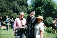 Dad Bert and Mom at Bert's U of Redlands Graduation -1997