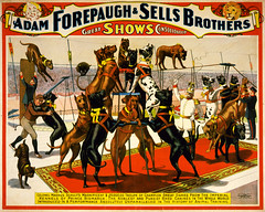 Champion great danes from the Imperial kennels, poster for Forepaugh & Sells Brothers, ca. 1898